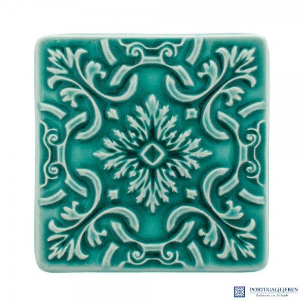 2 x Untersetzer für Gläser Keramik türkis - C. Atlantica